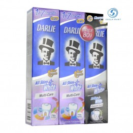 Darlie all Shiny White Toothpaste Multi-Care Plus Charcoal Clean 2x140g+80g