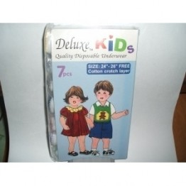 "Deluxe Kids Disposable Underwear (24""-26"") 7s"