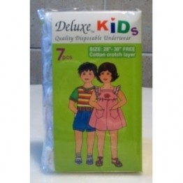 "Deluxe Kids Disposable Underwear (28""-30"")7s"