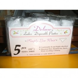 "Deluxe Laides Disposable Panties Cotton (42"") 5s"