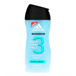 Adidas 3IN1 Body Hiar Face Extra Fresh Shower Gel Shampoo 250ml