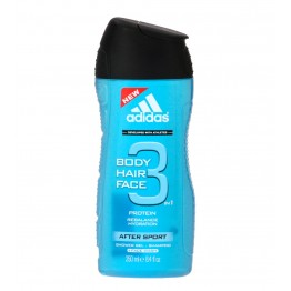 Adidas 3IN1 Body Hair Face After Sport Shower Gel Shampoo 250ml