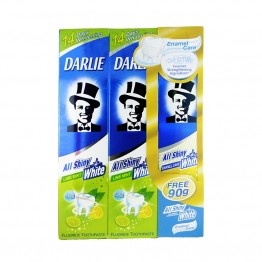 Darlie All Shiny White Lime Mint 2x160g+90g