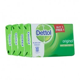 Dettol Bar Soap Original 105g 3 Free 1