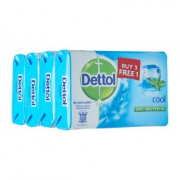 Dettol Bar Soap Cool 105g 3 Free 1