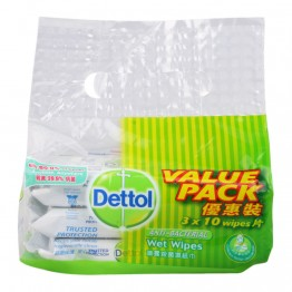 Dettol Wet Wipes 3x10's
