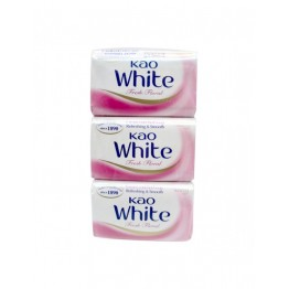 Kao White Soap Fresh Floral 3x40g (Pink)