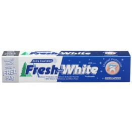 Lion Fresh & White Fresh Minty Sensation Toothpaste 250g+50g Cool Mint