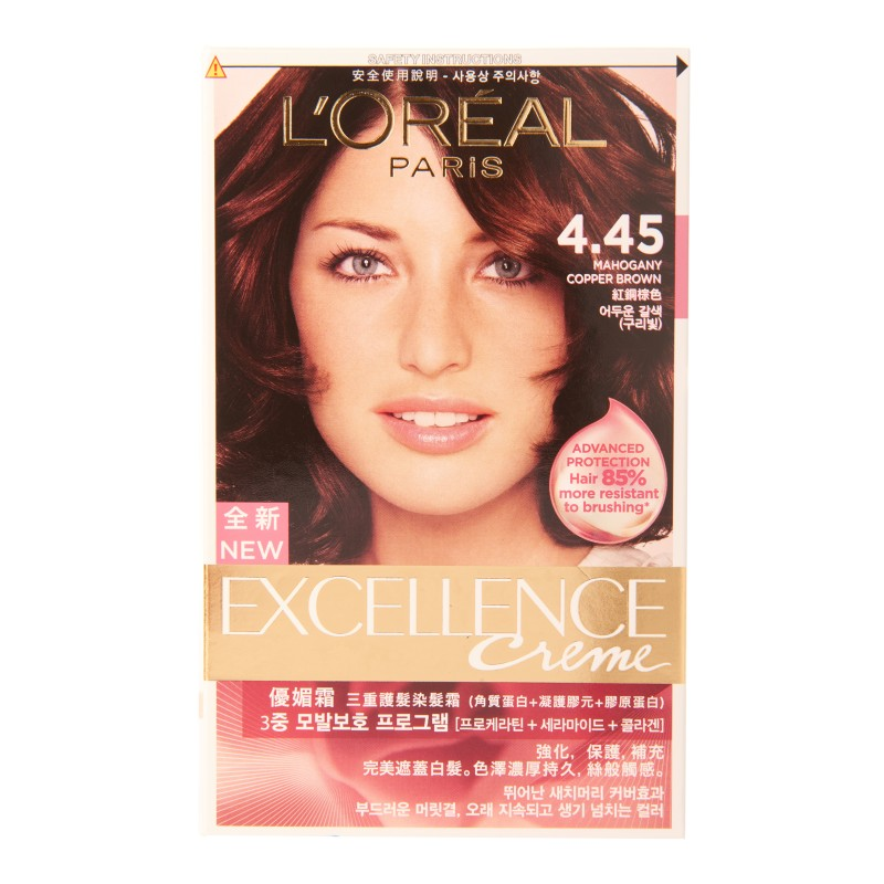 Loreal Excellence Pro K 4 45 Mahogany Copper Brown Red