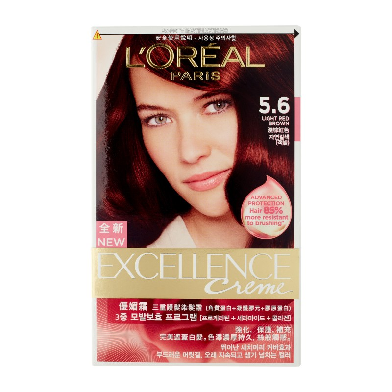Loreal Excellence Pro K 56 Light Red Brown Red Tomato Singapore