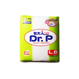 Dr.P Adult Diapers  L 8'S