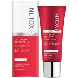 Nutox CC Cream SPF50PA+++ - Natural Biege 30ml