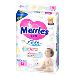 Merries JAPAN Version ● Merries Baby Tape Diapers M64