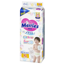 Merries JAPAN Version ● Merries Baby Tape Diapers XL44