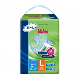 Tena Value Adult Diapers  L10s