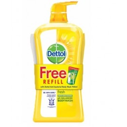 Dettol Shower Gel Fresh 950ml+250ml Refill