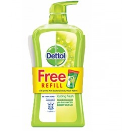 Dettol Shower Gel Lasting Fresh 950ml+250ml Refill