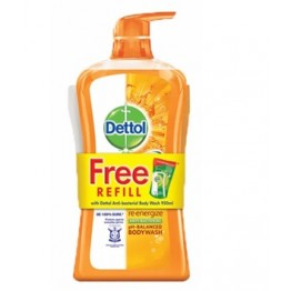 Dettol Shower Gel Re-energize 950ml+250ml Refill
