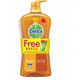 Dettol Shower Gel Gold Classic Clean 950ml+250ml Refill