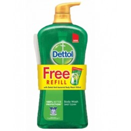 Dettol Shower Gel Gold Daily Clean 950ml+250ml Refill
