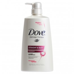 Dove Damage Therapy Straight & Skily Shampoo 700ml