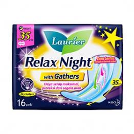 Laurier Relax Night With gather 35cm 16s