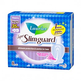 Laurier Super Slimguard Night 35cm 8s
