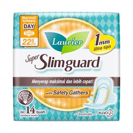 Laurier Super Slimguard Day 22.5cm with Safety Gather 14s
