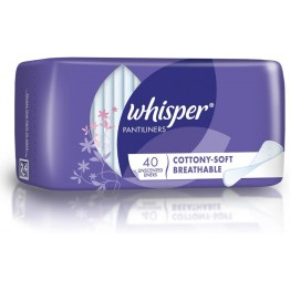 Whisper Cottony Soft Breathable Scented Pantiliners 40pcs
